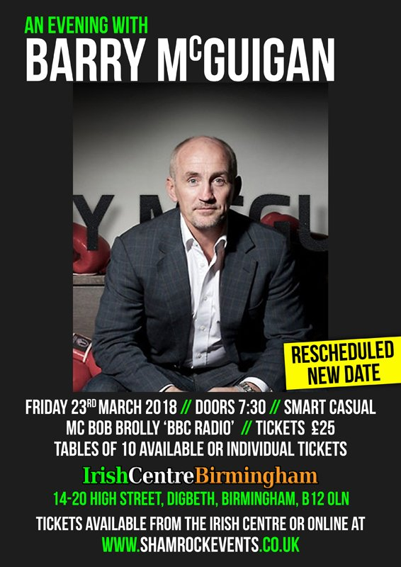 An Evening With Barry McGuigan