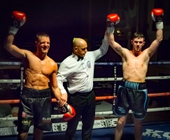 Chris Jenkinson thought he might have just done enough to beat Danny Ball but the scorecards didn't agree. (image: p.media.live)