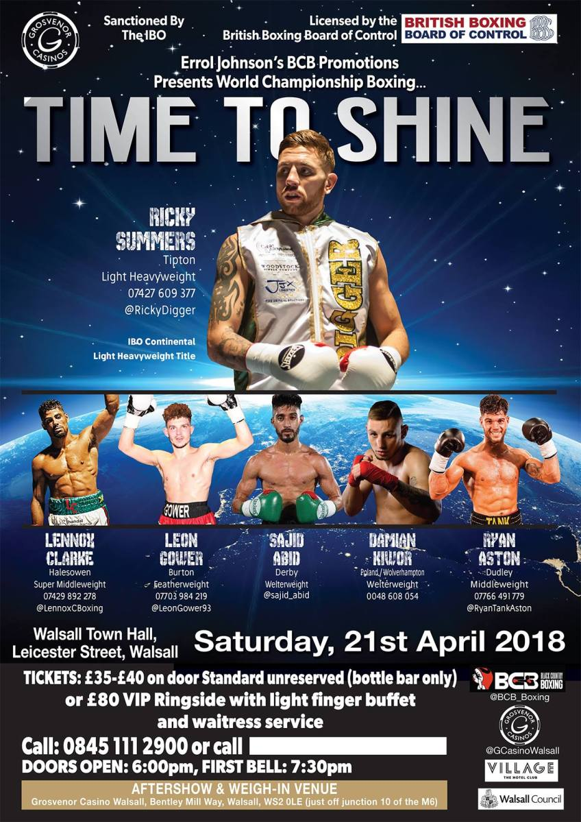 'Time To Shine.' - A Night of Boxing Drama - in Two Parts.