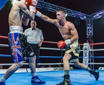 Williams forced a stoppage when he beat Jordan Turner to grab the Midlands Area Bantamweight Title. (image: p.media.live)