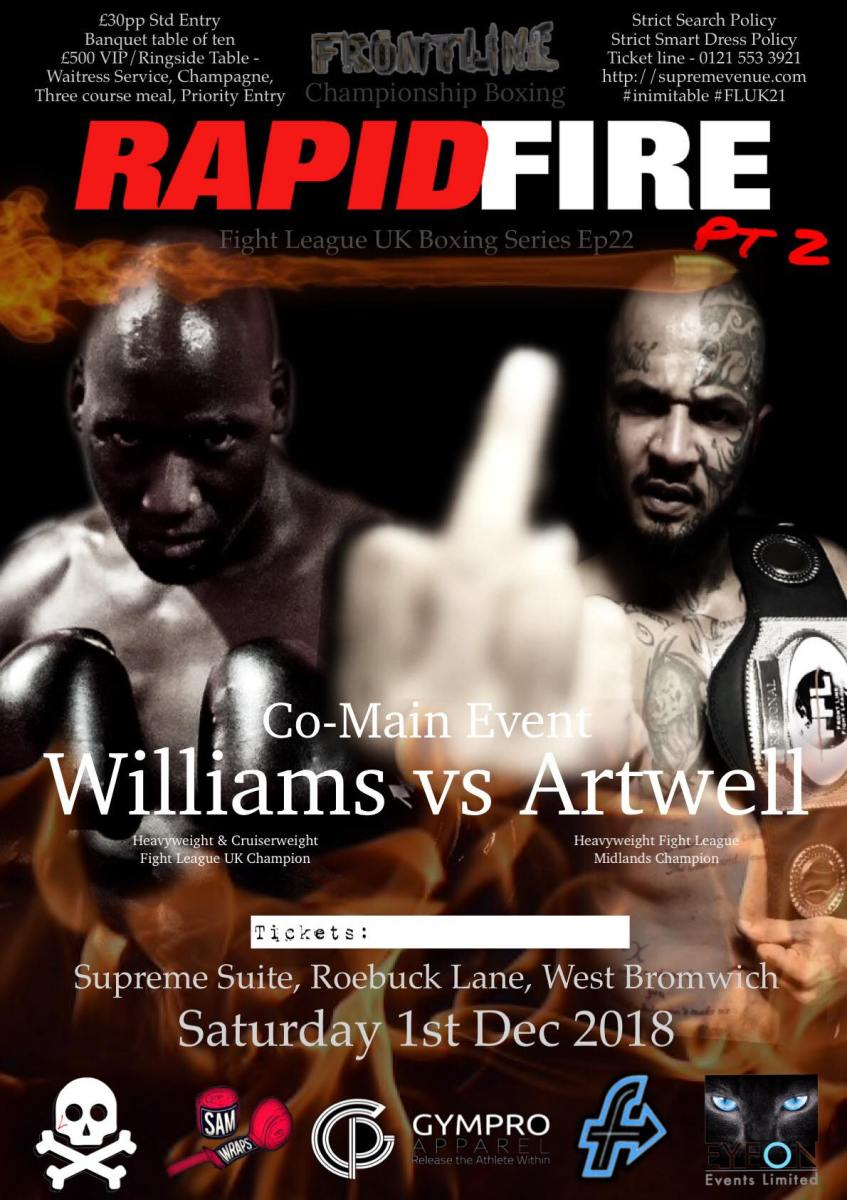 Artwell Takes On Williams in Frontline's Rapid Fire pt 2 Co-Headliner